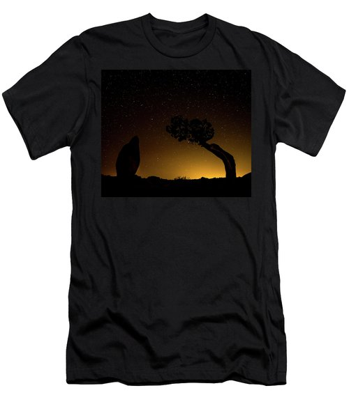 Men's T-Shirt (Athletic Fit) featuring the photograph Rock, Tree, Friends by T Brian Jones