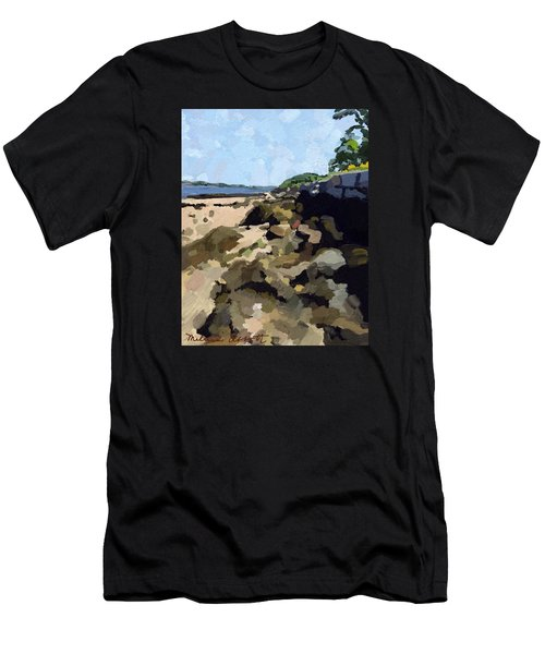 Rock Wall Looking South On Ten Pound Island, Gloucester, Ma Men's T-Shirt (Athletic Fit)