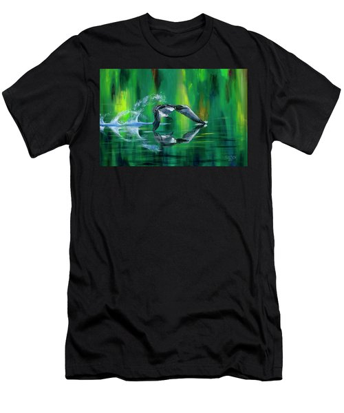 Rocket Feathers Men's T-Shirt (Athletic Fit)