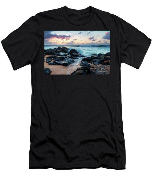 Rockpile Beach Sunset Men's T-Shirt (Athletic Fit)