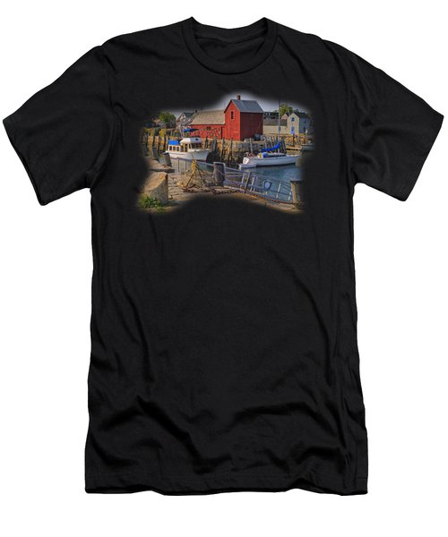 Men's T-Shirt (Athletic Fit) featuring the photograph Rockport Waterfront by Mark Myhaver
