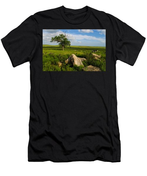Rocks And Cottonwood 1 Men's T-Shirt (Athletic Fit)