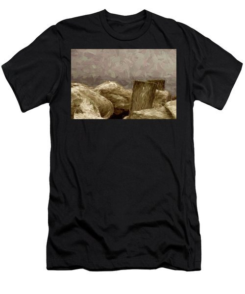 Rocks And Pilings Men's T-Shirt (Athletic Fit)