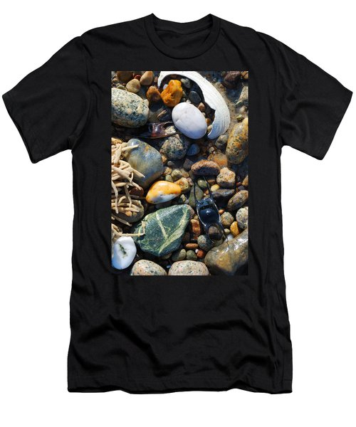 Rocks And Shells On Sandy Neck Beach Men's T-Shirt (Athletic Fit)