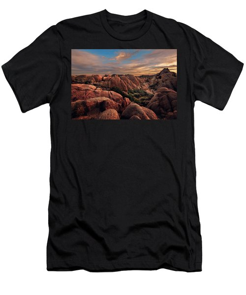 Men's T-Shirt (Athletic Fit) featuring the photograph Rocks At Sunrise by John Hight