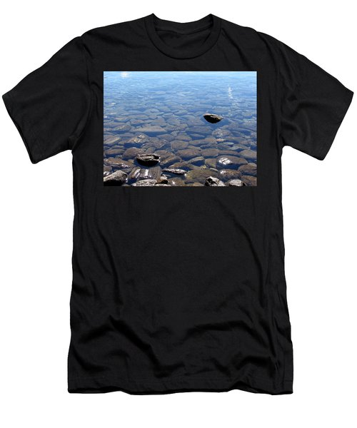 Rocks In Calm Waters Men's T-Shirt (Athletic Fit)
