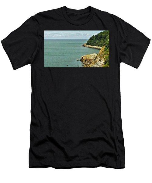 Rocky Coastline 1 Men's T-Shirt (Athletic Fit)