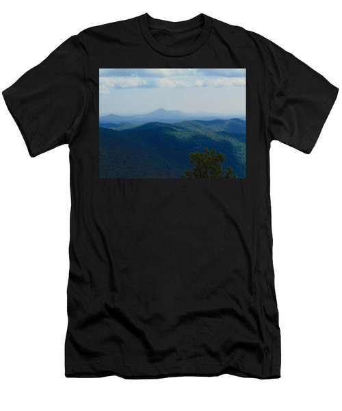 Rocky Mountain Overlook On The At Men's T-Shirt (Athletic Fit)