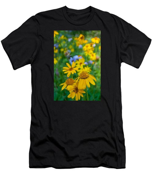 Rocky Mountain Wildflowers Men's T-Shirt (Athletic Fit)