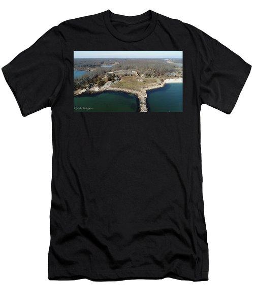 Rocky Neck Paviliion Men's T-Shirt (Athletic Fit)