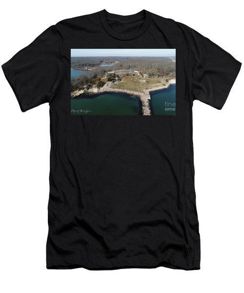Rocky Neck Paviliion Men's T-Shirt (Athletic Fit)