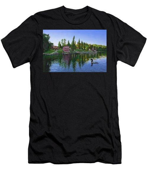 Rocky Shore Lodge Men's T-Shirt (Athletic Fit)