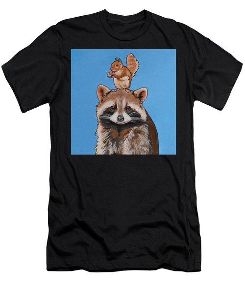 Rodney The Raccoon Men's T-Shirt (Athletic Fit)