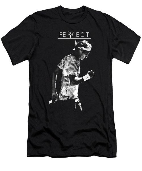 Roger Federer Silhouette Men's T-Shirt (Athletic Fit)