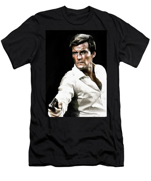 Roger Moore Men's T-Shirt (Athletic Fit)