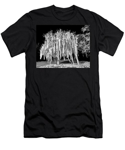 Rolled Tree Blk N White Men's T-Shirt (Athletic Fit)