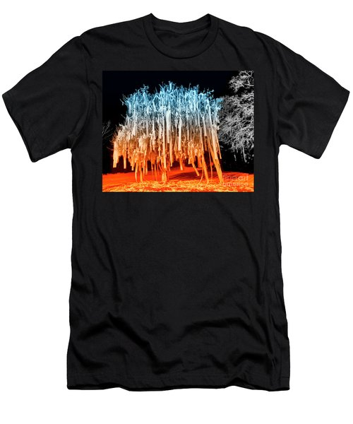 Rolled Tree Orangenblue Men's T-Shirt (Athletic Fit)