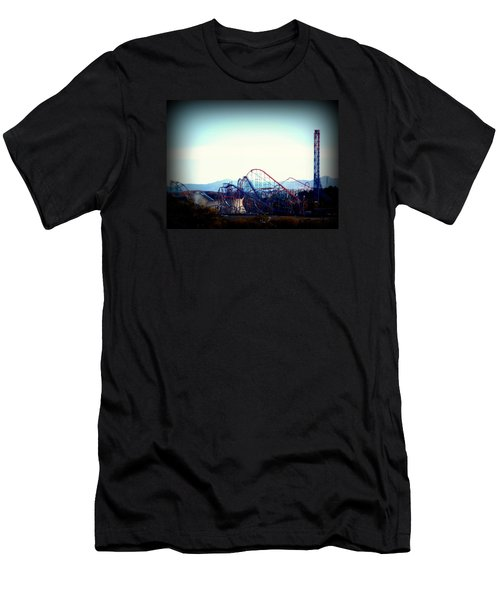 Roller Coasters At Twilight Men's T-Shirt (Athletic Fit)