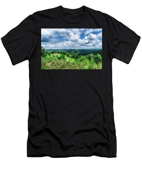 Rolling Hills And Puffy Clouds Men's T-Shirt (Athletic Fit)