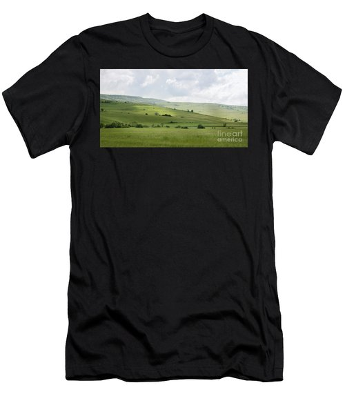 Rolling Landscape, Romania Men's T-Shirt (Athletic Fit)