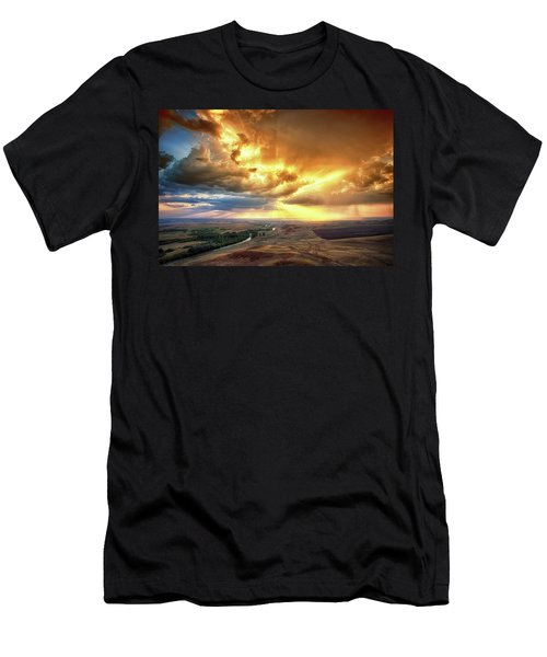 Rolling Rain Of Summer Sunset Men's T-Shirt (Athletic Fit)
