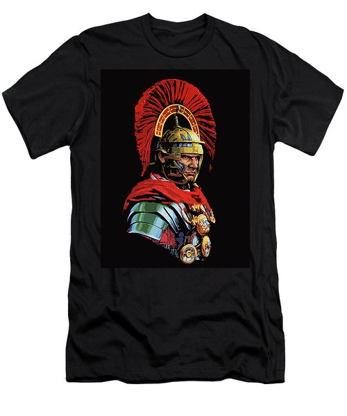 Roman Centurion Portrait Men's T-Shirt (Athletic Fit)