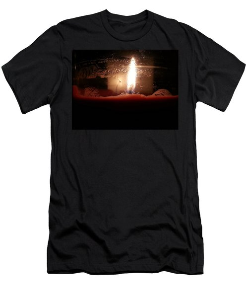 Men's T-Shirt (Athletic Fit) featuring the photograph Romantic Candle by Robert Knight