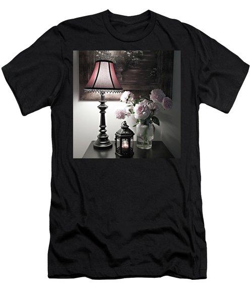 Romantic Nights Men's T-Shirt (Slim Fit) by Sherry Hallemeier