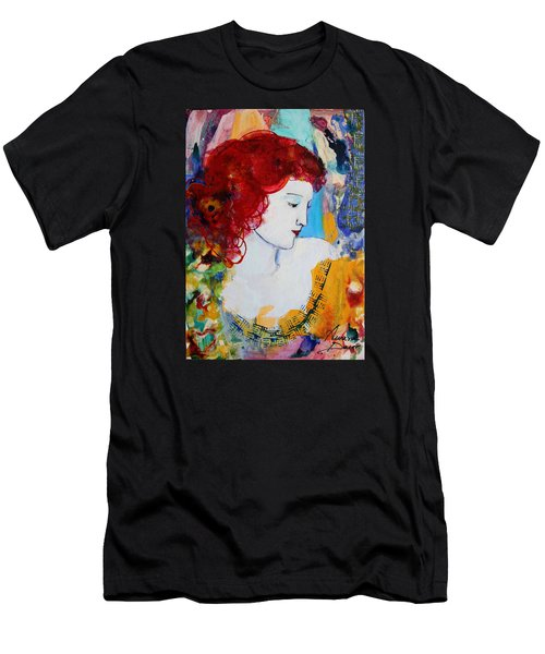 Romantic Read Heaired Woman Men's T-Shirt (Athletic Fit)