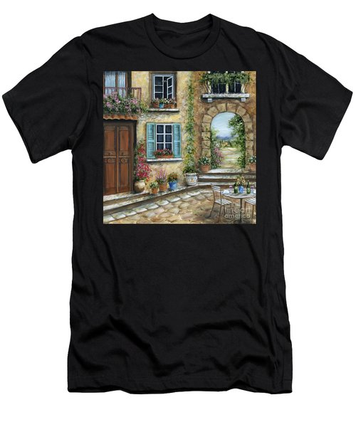 Romantic Tuscan Courtyard II Men's T-Shirt (Athletic Fit)
