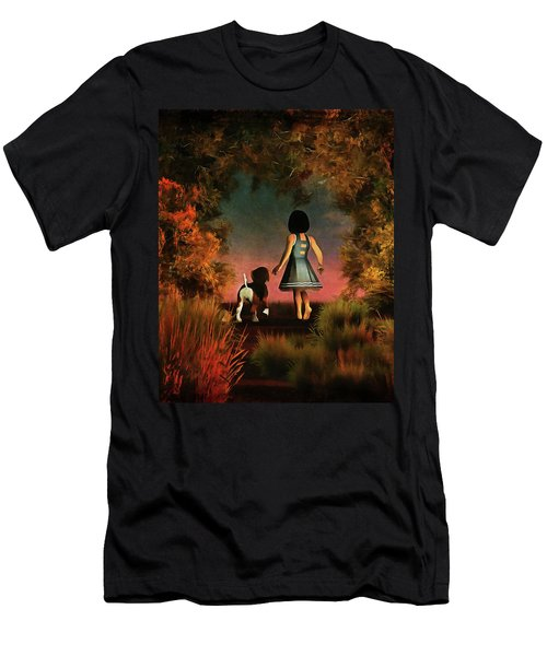 Romantic Walk In The Woods Men's T-Shirt (Athletic Fit)