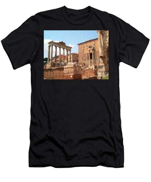 Rome The Eternal City And Temples Men's T-Shirt (Athletic Fit)