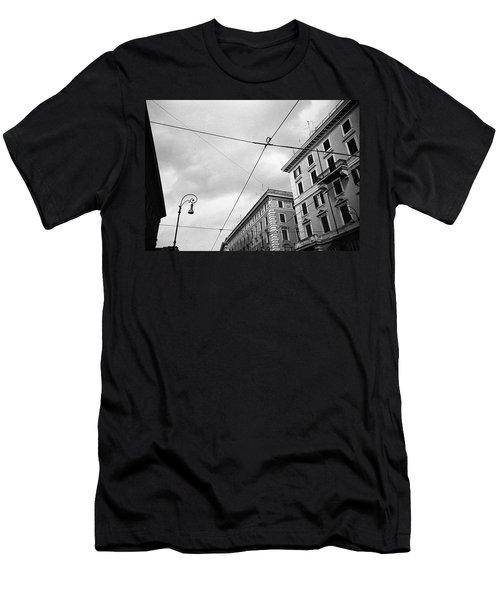 Rome's Downtown Cable Sky Men's T-Shirt (Athletic Fit)