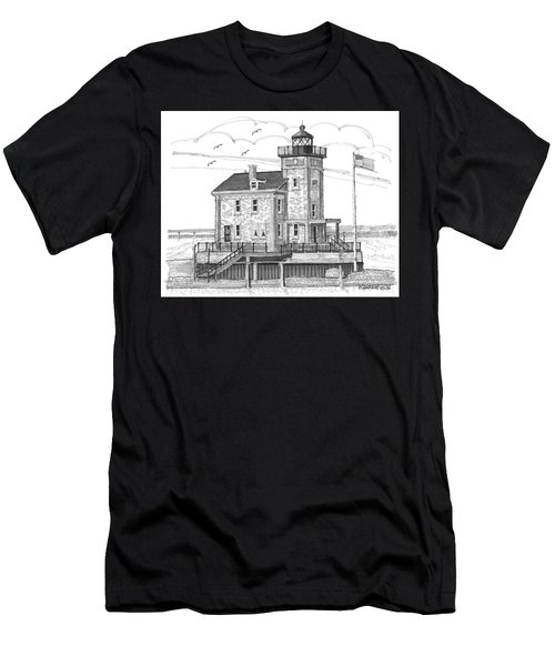 Rondout Lighthouse Men's T-Shirt (Athletic Fit)