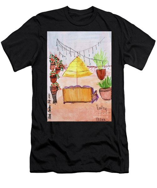 Rooftop At The Canary Men's T-Shirt (Athletic Fit)