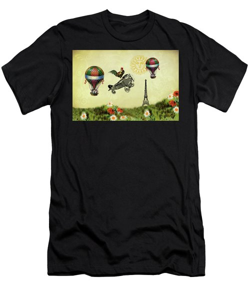 Rooster Flying High Men's T-Shirt (Athletic Fit)