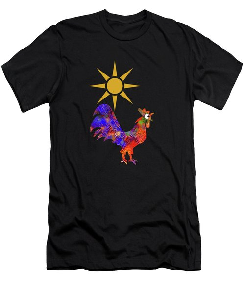Rooster Pattern Men's T-Shirt (Athletic Fit)