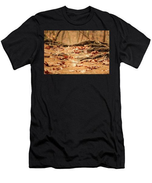 Roots Along The Path Men's T-Shirt (Athletic Fit)