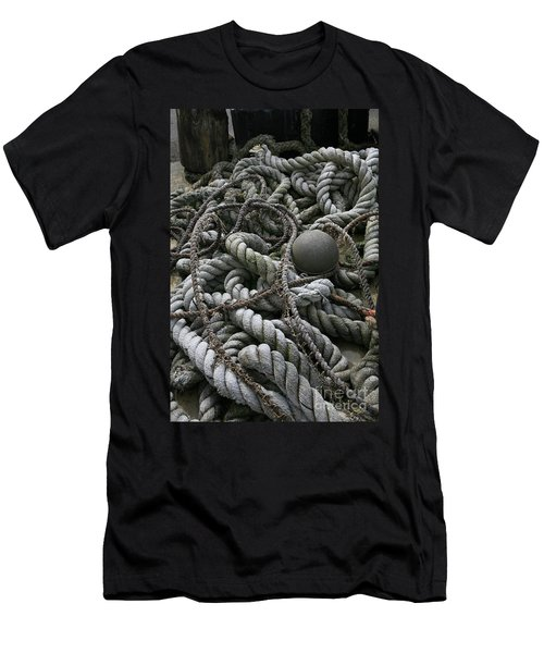 Ropes And Lines Men's T-Shirt (Athletic Fit)