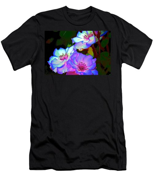 Rose 127 Men's T-Shirt (Slim Fit) by Pamela Cooper