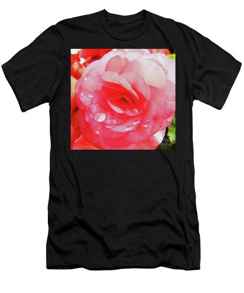 Rose After The Rain Men's T-Shirt (Athletic Fit)