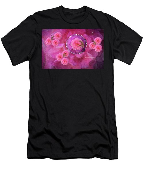 Rose Art A Rose Is Given With Love Men's T-Shirt (Athletic Fit)