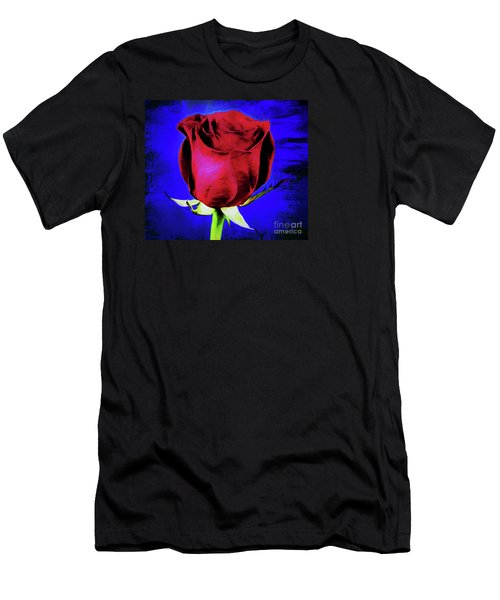 Rose - Beauty And Love  Men's T-Shirt (Slim Fit) by Ray Shrewsberry