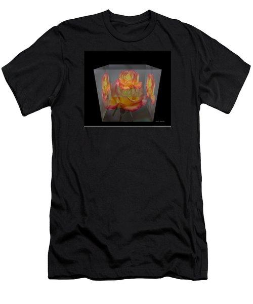Rose Block Men's T-Shirt (Athletic Fit)