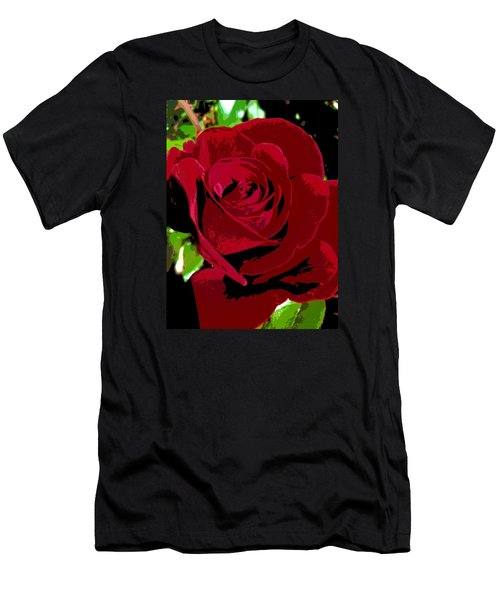 Men's T-Shirt (Slim Fit) featuring the photograph Rose Bloom by Matthew Bamberg