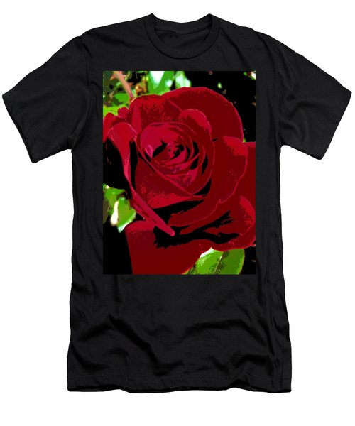 Rose Bloom Men's T-Shirt (Athletic Fit)