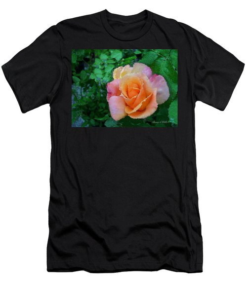 Men's T-Shirt (Slim Fit) featuring the photograph Rose by Bonnie Willis