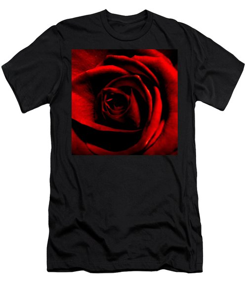 Rose Men's T-Shirt (Slim Fit) by CML Brown