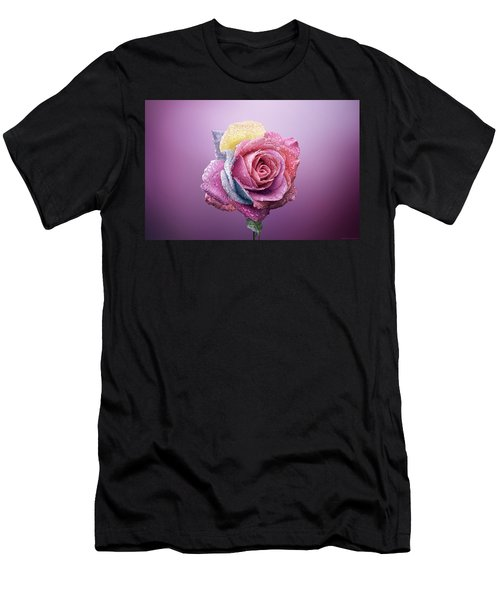 Rose Colorfull Men's T-Shirt (Athletic Fit)