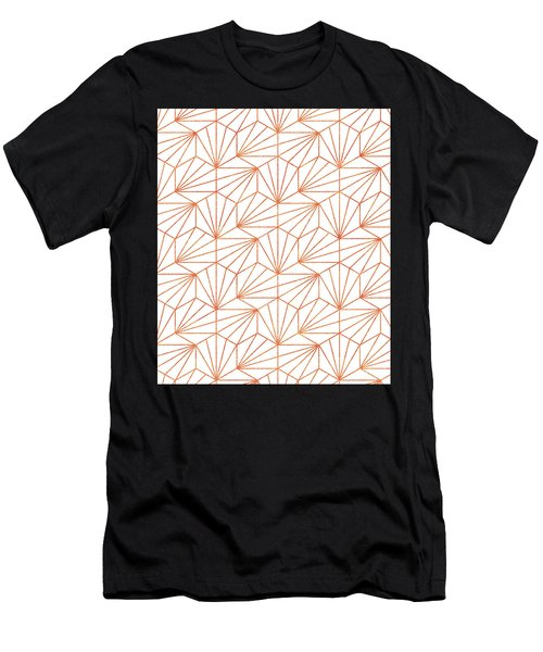 Rose Gold And White Men's T-Shirt (Athletic Fit)